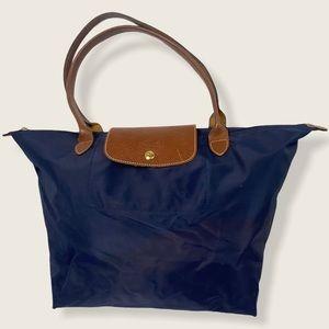 Longchamp Le Pliage Tote Bag Blue Large Foldable